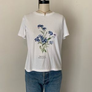 Brandy Melville jgalt forget me not T-shirt NWT